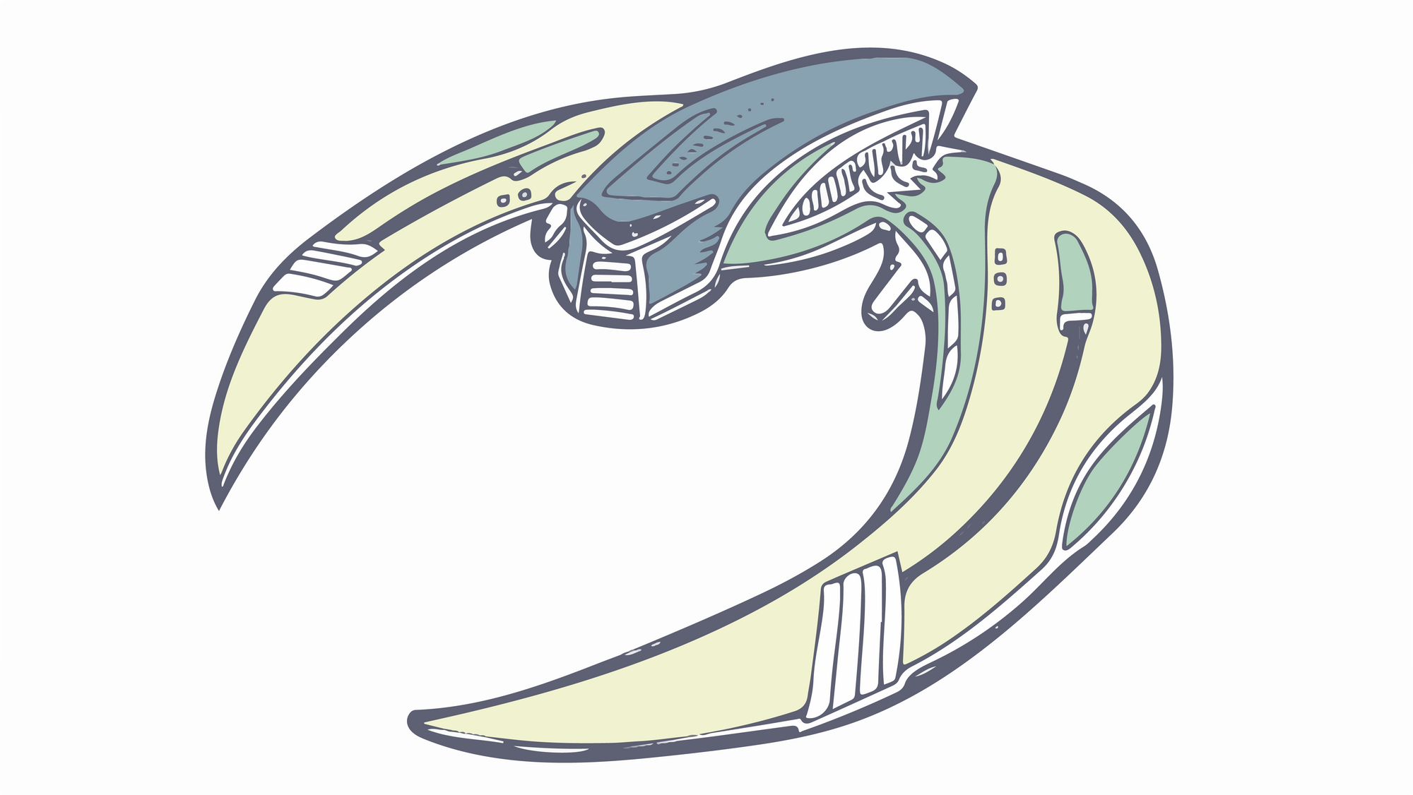 drawing of a Cylon Raider